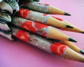 Handmade Pencils - Heirloom Rose by missIsa on etsy