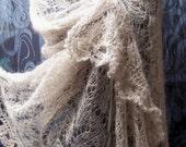 lace knitted stole silk kidmohair