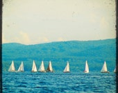 Sailing on the Ocean Blue, Sailboat, Sea - 5x5 Through the Viewfinder Art Photograph Print - Made by artstudio54 on ETSY