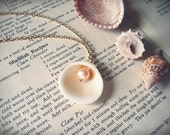 calypso. a natural pearl and clamshell necklace