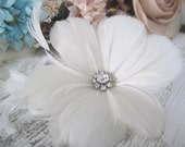 Most Adored-Etta bridal feather hairpiece-custom made to order