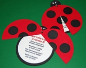 Sweet Ladybug Collection - Invtations - Custom Birthday Party Invites