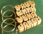 Maple Wood Name Keychain - Free Shipping to U.S., Canada and Mexico