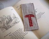 Monogrammed Bookmark - T