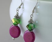 African Violet Earrings