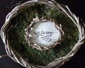 Welcome Mossy Wreath
