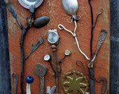 Assemblage art SALVAGE GARDEN II Outsider art