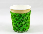 Lime Quilted Coffee Cozy/Sleeve