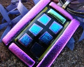 Dichroic Glass Mexican Window Pendant Calle Sin Nombre
