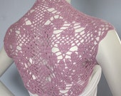 Lilac Bridal Silk Bamboo Shrug hand knit /crochet bolero custom 12 colors