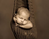 3 in 1 Tight Knit Sling (Brown)...Cocoon...Wrap...Photography Prop