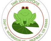 Lily Pad Toad - Address Labels or Stickers