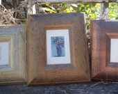 ACEO Wooden Picture Frame 4 x 6 Matted Brushed Gold