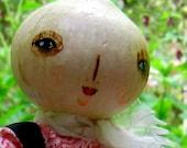 White Onion Head art doll