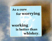 Ralph Waldo EMERSON Tie Tack - As a cure for worrying - work is better than whiskey