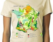 French Map Tee Colorful Tee WOMENS shirt