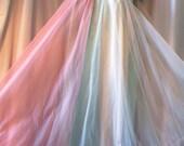 Vintage Pastel Chiffon Nightgown