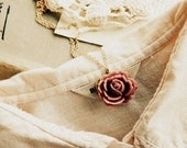 Petal to petal. everlasting rose necklace.