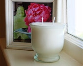 Japanese Pear and Ginseng Botanical Candle -- Recycled Glassware