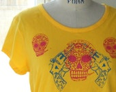 Sugar Skull and Revolvers Tee sz XL