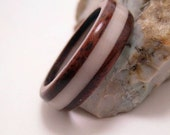 Walnut and Tagua Nut Ring