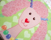 LOLA THE PINK POODLE PRINT ON ROUND CANVAS