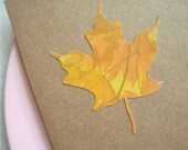 Papercut Maple Leaf Stationery Set of 6 Fall Cards