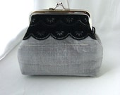 Mini Madison - coin purse lined in pale rose silk