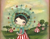 The Forest Ferris Wheel Print
