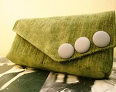 Small Moss Carpet Bag Clutch
