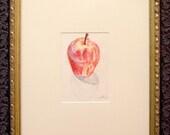 Apple - Original Framed Drawing