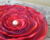 Orange Satin Flower Accessory