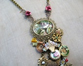 Pretty Woman - A Vintage Charm Necklace Assemblage RESERVED FOR LIZA