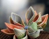 Mod Dots - Kanzashi Flower Hair Clip