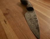 hand forged purple heart handled small chefs knife