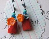 senora earrings - red