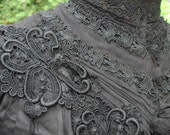 Antique Victorian Mourning Bodice Overblouse Jacket