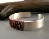 Mixed Metal Organic, Entwined Cuff