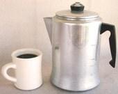Vintage 14 Cup Mirro Stove Top Coffee Pot