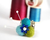 Hand-Felted Pincushion Ring, FREE SHIPPING