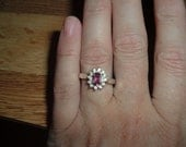 Hot Pink Rhodolite Garnet Ring