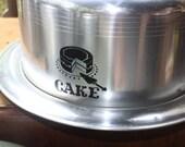 Vintage Kitchen Set Canisters Kettle Cake Taker Carrier Black Silver
