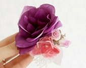 Buy 1 Get 1 SALE -Purple  touch - floral hair comb