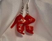 Barbie Strappy Red Stiletto Sandal earrings