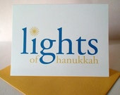 Lights of Hanukkah Greeting Card