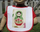 Charming MATRYOSHKA Russian Nesting doll Bib for baby or toddler