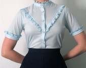 Powder Blue Blouse