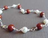 Tantalizing Fire and Ice Sterling Silver Bracelet