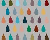 Drops on Gray - 8 x 10 print