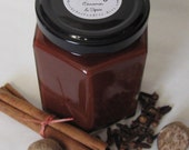 CINNAMON AND SPICE Soy Candle- 8 oz. in Hex Jar with Lid